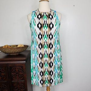 London Times Sheath Ikat Striped Dress, 14